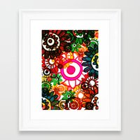 hippy Framed Art Prints featuring Hippy Shake! by Charlotte Douthwaite