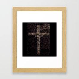 I preach Christ & Christ Crucified Framed Art Print