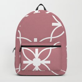 Seamless Geometric White Abstract Pattern on Colorful Background Backpack