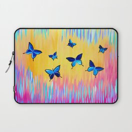 Butterflies and Abstract Colours Laptop Sleeve