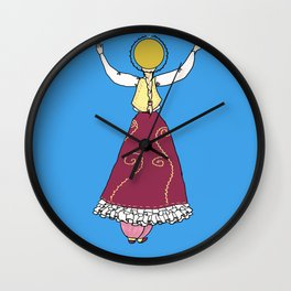 Patron Saint of Bad Embroidery Wall Clock