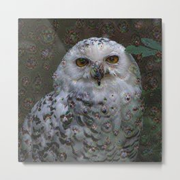 Dream Creatures, Snowy Owl, DeepDream Metal Print