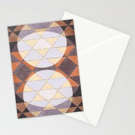 Triangles and Circles Pattern no.24 Stationery Cards