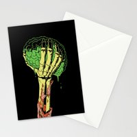 Zombie Skeleton Brain Vintage Stationery Cards
