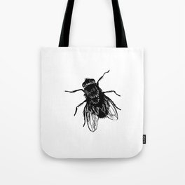 Drawing house-fly Tote Bag