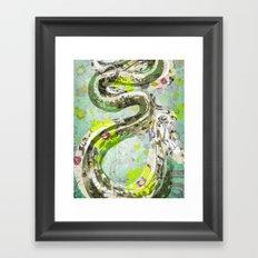 Garden Snake Commons Framed Art Print