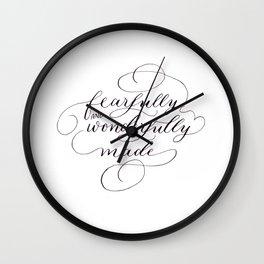Fearfully & wonderfully made Wall Clock