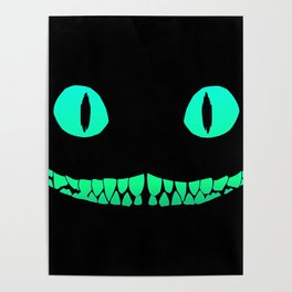 Cheshire black smile Poster