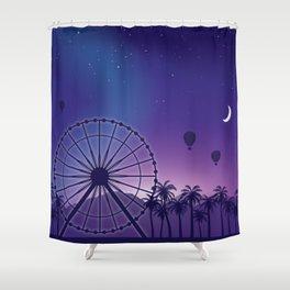 Festival Inspired Rainbow Sunset Shower Curtain