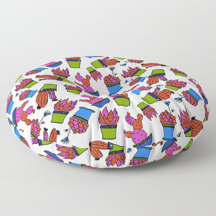 Cacti paradise pattern Floor Pillow