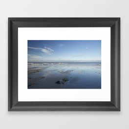 Blue Beach Framed Art Print