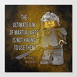 Samurai Musashi Martial Arts quote Canvas Print