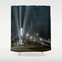 Why Do Rockets Launch At Night Shower Curtain