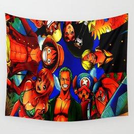 tim mugiwara luffy Wall Tapestry