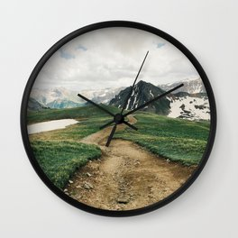 Colorado Mountain Road Wall Clock
