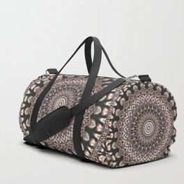 3D Mandala in Sophisticated Earth Colors Duffle Bag