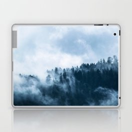 Atmospheric Fog over a Forest Laptop & iPad Skin