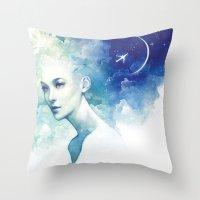 flight Throw Pillows featuring Flight by Anna Dittmann