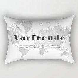 Joyful travel anticipation world map Rectangular Pillow
