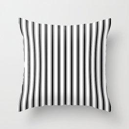 Black and white ticking stripes Throw Pillow