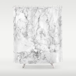 Gray Marble Background Shower Curtain