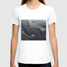 Dark Gray Marble Pattern T-shirt
