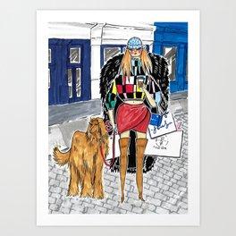 SoHo Girl – Original Fashion art, Fashion Illustration, Fashion wall art, Fashion painting, New York Art Print