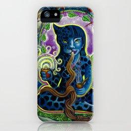 Jaguar Shaman Woman iPhone Case