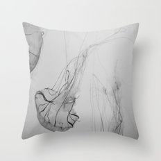 Descending Jellies Throw Pillow