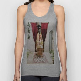 Colonial Style Tea Room in Merida, Mexico Unisex Tank Top