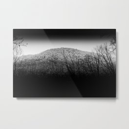 Mountain Top Dusting Metal Print
