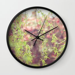 Willow leafs Wall Clock
