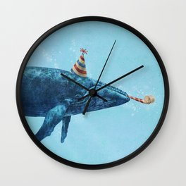 Party Whale  Wall Clock