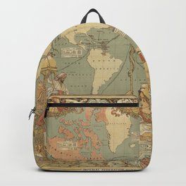 Ancient World Map 3 Backpack