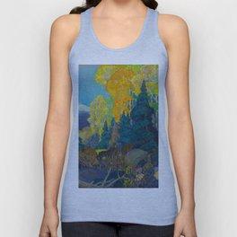 Canadian Landscape Franklin Carmichael Art Nouveau Post-Impressionism Autumn Hillside Unisex Tank Top