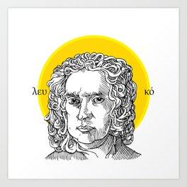 St. Newton Art Print