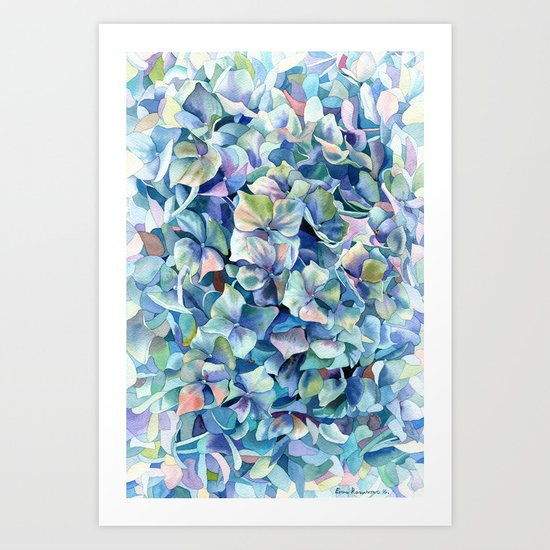 """Marine hydrangea"" Art Print"