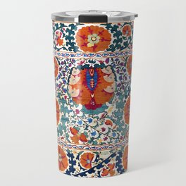 Shakhrisyabz Suzani Uzbekistan Antique Rug Travel Mug
