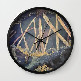 The Healing Crystal cave Wall Clock