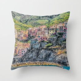 Italy Seaside Architecture Throw Pillow