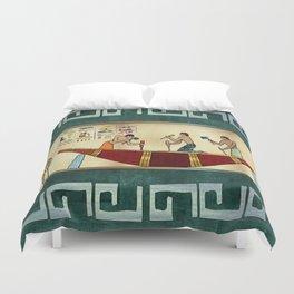 Craftsmanship Egyptian Folk Art Duvet Cover