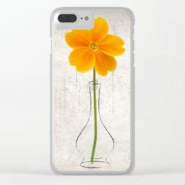 Orange Hermit Clear iPhone Case