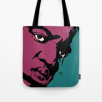 notorious Tote Bags featuring Notorious by Vee Ladwa