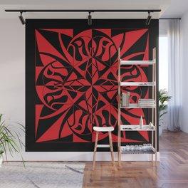 Think Mandala - Black Red Wall Mural