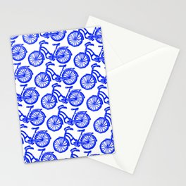 roule ma poule - wanna ride my bicycle BLUE Stationery Cards