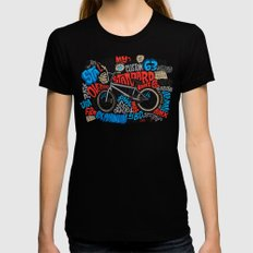 All My Bikes: STA-L SMALL Black Womens Fitted Tee