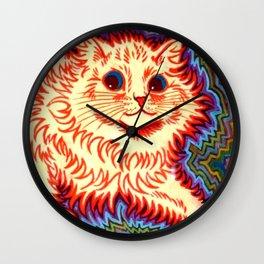 Louis Wain Psychedelic Cat Wall Clock