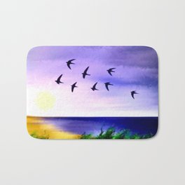 Summer sky. Bath Mat