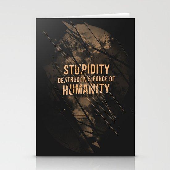 Stupidity Stationery Cards