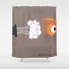 cannon eye Shower Curtain